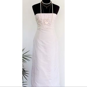 Pheobe Strapless Embroidered Full Length Dress 4